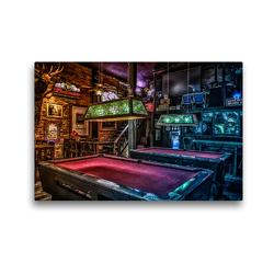 Premium Textil-Leinwand 45 x 30 cm Quer-Format Freizeit Billard   Wandbild, HD-Bild auf Keilrahmen, Fertigbild auf hochwertigem Vlies, Leinwanddruck von W.W. Voßen – Herzog von Laar am Rhein