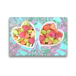 Premium Textil-Leinwand 45 x 30 cm Quer-Format Frische Früchte in Schalen   Wandbild, HD-Bild auf Keilrahmen, Fertigbild auf hochwertigem Vlies, Leinwanddruck von Liselotte Brunner-Klaus