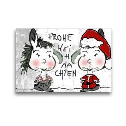 Premium Textil-Leinwand 45 x 30 cm Quer-Format Frohe Weihnachten CB | Wandbild, HD-Bild auf Keilrahmen, Fertigbild auf hochwertigem Vlies, Leinwanddruck von Claudia Burlager