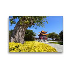 Premium Textil-Leinwand 45 x 30 cm Quer-Format Frühling in der Provinz Yunnan / China | Wandbild, HD-Bild auf Keilrahmen, Fertigbild auf hochwertigem Vlies, Leinwanddruck von Thomas Böhm