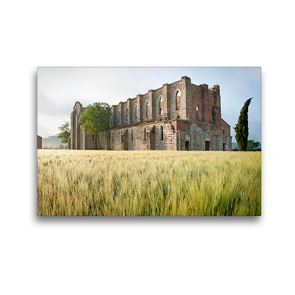 Premium Textil-Leinwand 45 x 30 cm Quer-Format Frühling in der Toskana – Foto eines stattlich historischen Denkmals   Wandbild, HD-Bild auf Keilrahmen, Fertigbild auf hochwertigem Vlies, Leinwanddruck von CALVENDO