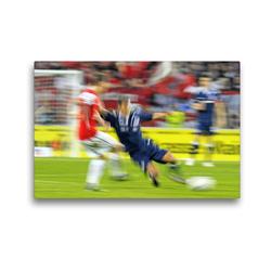 Premium Textil-Leinwand 45 x 30 cm Quer-Format Fußball for ever: Zweikampf | Wandbild, HD-Bild auf Keilrahmen, Fertigbild auf hochwertigem Vlies, Leinwanddruck von CALVENDO
