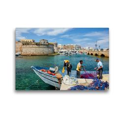 Premium Textil-Leinwand 45 x 30 cm Quer-Format Gallipoli | Wandbild, HD-Bild auf Keilrahmen, Fertigbild auf hochwertigem Vlies, Leinwanddruck von Martin Rauchenwald