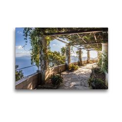 Premium Textil-Leinwand 45 x 30 cm Quer-Format Garten der Villa San Michele auf Capri, Italien | Wandbild, HD-Bild auf Keilrahmen, Fertigbild auf hochwertigem Vlies, Leinwanddruck von Christian Müringer