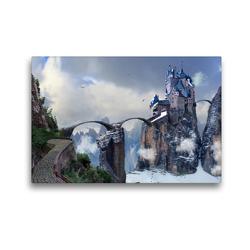 Premium Textil-Leinwand 45 x 30 cm Quer-Format Geisterschloss   Wandbild, HD-Bild auf Keilrahmen, Fertigbild auf hochwertigem Vlies, Leinwanddruck von Val Thoermer