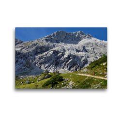 Premium Textil-Leinwand 45 x 30 cm Quer-Format Genuss Erlebnisweg Alpspitz | Wandbild, HD-Bild auf Keilrahmen, Fertigbild auf hochwertigem Vlies, Leinwanddruck von Dieter-M. Wilczek