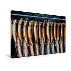 Premium Textil-Leinwand 45 x 30 cm Quer-Format Geräucherter Fisch – eine Rügener Spezialität. | Wandbild, HD-Bild auf Keilrahmen, Fertigbild auf hochwertigem Vlies, Leinwanddruck von Ingo Gerlach GDT von Gerlach GDT,  Ingo