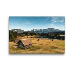 Premium Textil-Leinwand 45 x 30 cm Quer-Format Geroldsee Bayern | Wandbild, HD-Bild auf Keilrahmen, Fertigbild auf hochwertigem Vlies, Leinwanddruck von Bergpixel