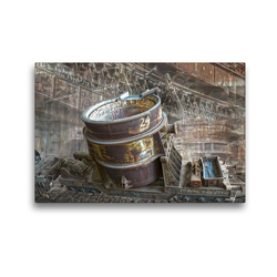 Premium Textil-Leinwand 45 x 30 cm Quer-Format Gießpfanne | Wandbild, HD-Bild auf Keilrahmen, Fertigbild auf hochwertigem Vlies, Leinwanddruck von Astrid Ziemer