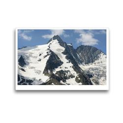 Premium Textil-Leinwand 45 x 30 cm Quer-Format Gipfel des Großglockner Massives. Hohe Tauern in Österreich.   Wandbild, HD-Bild auf Keilrahmen, Fertigbild auf hochwertigem Vlies, Leinwanddruck von Anja Frost