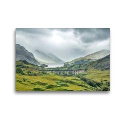 Premium Textil-Leinwand 45 x 30 cm Quer-Format Glenfinnan-Viadukt in den schottischen Highlands | Wandbild, HD-Bild auf Keilrahmen, Fertigbild auf hochwertigem Vlies, Leinwanddruck von Akrema-Photography