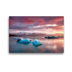 Premium Textil-Leinwand 45 x 30 cm Quer-Format Gletscherlagune Jökulsárlón | Wandbild, HD-Bild auf Keilrahmen, Fertigbild auf hochwertigem Vlies, Leinwanddruck von Judith Kuhn