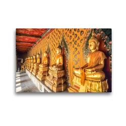 Premium Textil-Leinwand 45 x 30 cm Quer-Format Goldene Buddha-Statuen im Grand Palace in Bangkok | Wandbild, HD-Bild auf Keilrahmen, Fertigbild auf hochwertigem Vlies, Leinwanddruck von Christian Müringer