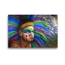 Premium Textil-Leinwand 45 x 30 cm Quer-Format Graffiti in Querétaro | Wandbild, HD-Bild auf Keilrahmen, Fertigbild auf hochwertigem Vlies, Leinwanddruck von Arie Wubben