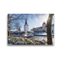 Premium Textil-Leinwand 45 x 30 cm Quer-Format Grafschaft ~ Am Fuße des Wilzenbergs | Wandbild, HD-Bild auf Keilrahmen, Fertigbild auf hochwertigem Vlies, Leinwanddruck von Heidi Bücker