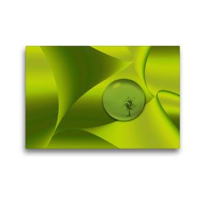 Premium Textil-Leinwand 45 x 30 cm Quer-Format Grüne Schwingungen | Wandbild, HD-Bild auf Keilrahmen, Fertigbild auf hochwertigem Vlies, Leinwanddruck von Wiebke Storm