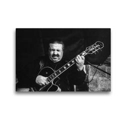 Premium Textil-Leinwand 45 x 30 cm Quer-Format Häns'che Weiss (Gitarre) | Wandbild, HD-Bild auf Keilrahmen, Fertigbild auf hochwertigem Vlies, Leinwanddruck von Klaus Rohwer
