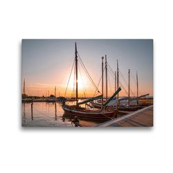 Premium Textil-Leinwand 45 x 30 cm Quer-Format Hafen Fuhlendorf | Wandbild, HD-Bild auf Keilrahmen, Fertigbild auf hochwertigem Vlies, Leinwanddruck von Steffen Gierok