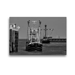 Premium Textil-Leinwand 45 x 30 cm Quer-Format Hafeneinfahrt | Wandbild, HD-Bild auf Keilrahmen, Fertigbild auf hochwertigem Vlies, Leinwanddruck von kattobello