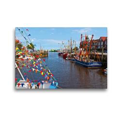 Premium Textil-Leinwand 45 x 30 cm Quer-Format Hafenromantik | Wandbild, HD-Bild auf Keilrahmen, Fertigbild auf hochwertigem Vlies, Leinwanddruck von Olaf Friedrich