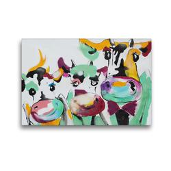 Premium Textil-Leinwand 45 x 30 cm Quer-Format Happy Family   Wandbild, HD-Bild auf Keilrahmen, Fertigbild auf hochwertigem Vlies, Leinwanddruck von Elena Ennikova