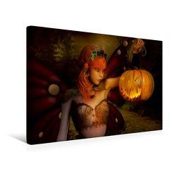 Premium Textil-Leinwand 45 x 30 cm Quer-Format Happy Halloween | Wandbild, HD-Bild auf Keilrahmen, Fertigbild auf hochwertigem Vlies, Leinwanddruck von Andrea Tiettje von Tiettje,  Andrea