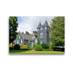 Premium Textil-Leinwand 45 x 30 cm Quer-Format Haus Grünwald, Solingen   Wandbild, HD-Bild auf Keilrahmen, Fertigbild auf hochwertigem Vlies, Leinwanddruck von Udo Haafke