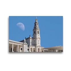 Premium Textil-Leinwand 45 x 30 cm Quer-Format Heiligtum von Fatima in Portugal mit Mond | Wandbild, HD-Bild auf Keilrahmen, Fertigbild auf hochwertigem Vlies, Leinwanddruck von Marion Meyer @ Stimmungsbilder1