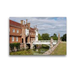 Premium Textil-Leinwand 45 x 30 cm Quer-Format Helmingham Hall, Suffolk | Wandbild, HD-Bild auf Keilrahmen, Fertigbild auf hochwertigem Vlies, Leinwanddruck von Gisela Kruse