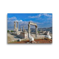 Premium Textil-Leinwand 45 x 30 cm Quer-Format Herkulestempel in Amman | Wandbild, HD-Bild auf Keilrahmen, Fertigbild auf hochwertigem Vlies, Leinwanddruck von Klaus Eppele