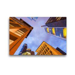 Premium Textil-Leinwand 45 x 30 cm Quer-Format Hochhäuser von Banken und Versicherungen im Bankenviertel in Frankfurt am Main | Wandbild, HD-Bild auf Keilrahmen, Fertigbild auf hochwertigem Vlies, Leinwanddruck von Werner Dieterich