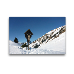 Premium Textil-Leinwand 45 x 30 cm Quer-Format Hochtannbergpass   Wandbild, HD-Bild auf Keilrahmen, Fertigbild auf hochwertigem Vlies, Leinwanddruck von N N