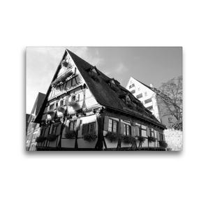 Premium Textil-Leinwand 45 x 30 cm Quer-Format Hotel Schiefes Haus im Ulmer Fischerviertel | Wandbild, HD-Bild auf Keilrahmen, Fertigbild auf hochwertigem Vlies, Leinwanddruck von kattobello