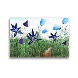 Premium Textil-Leinwand 45 x 30 cm Quer-Format In der Wiese | Wandbild, HD-Bild auf Keilrahmen, Fertigbild auf hochwertigem Vlies, Leinwanddruck von Christine Denorme