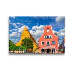 Premium Textil-Leinwand 45 x 30 cm Quer-Format Ingolstadt Impressionen | Wandbild, HD-Bild auf Keilrahmen, Fertigbild auf hochwertigem Vlies, Leinwanddruck von Dirk Meutzner