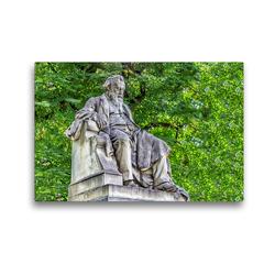 Premium Textil-Leinwand 45 x 30 cm Quer-Format Johannes Brahms (1833-1897), Plastik von Rudolf Weyr 1908, Wien Wieden | Wandbild, HD-Bild auf Keilrahmen, Fertigbild auf hochwertigem Vlies, Leinwanddruck von Werner Braun