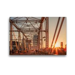 Premium Textil-Leinwand 45 x 30 cm Quer-Format John Seigenthaler Pedestrian Bridge, Nashville | Wandbild, HD-Bild auf Keilrahmen, Fertigbild auf hochwertigem Vlies, Leinwanddruck von Urte Kortjohann Photography