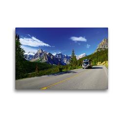 Premium Textil-Leinwand 45 x 30 cm Quer-Format KANADA – Mit Campmobil quer durch   Wandbild, HD-Bild auf Keilrahmen, Fertigbild auf hochwertigem Vlies, Leinwanddruck von Hans-Gerhard Pfaff