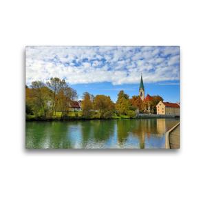 Premium Textil-Leinwand 45 x 30 cm Quer-Format Kempten im Allgäu, die älteste Stadt Deutschlands. | Wandbild, HD-Bild auf Keilrahmen, Fertigbild auf hochwertigem Vlies, Leinwanddruck von Werner Thoma