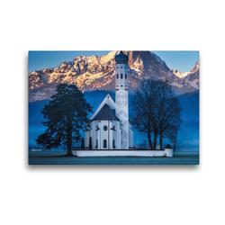Premium Textil-Leinwand 45 x 30 cm Quer-Format Kirche Colmar Allgäu | Wandbild, HD-Bild auf Keilrahmen, Fertigbild auf hochwertigem Vlies, Leinwanddruck von Alexander Höntschel