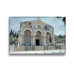 Premium Textil-Leinwand 45 x 30 cm Quer-Format Kirche der Nationen am Garten Gethsemane | Wandbild, HD-Bild auf Keilrahmen, Fertigbild auf hochwertigem Vlies, Leinwanddruck von GT Color
