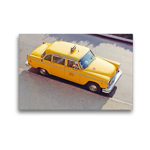 Premium Textil-Leinwand 45 x 30 cm Quer-Format Klassiker: Ein Checker Yellow Cab in New York | Wandbild, HD-Bild auf Keilrahmen, Fertigbild auf hochwertigem Vlies, Leinwanddruck von CALVENDO