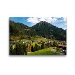 Premium Textil-Leinwand 45 x 30 cm Quer-Format Kleines Dorf bei Gaschurn | Wandbild, HD-Bild auf Keilrahmen, Fertigbild auf hochwertigem Vlies, Leinwanddruck von Tanja Riedel