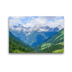 Premium Textil-Leinwand 45 x 30 cm Quer-Format Kleinwalsertal in Österreich | Wandbild, HD-Bild auf Keilrahmen, Fertigbild auf hochwertigem Vlies, Leinwanddruck von Karin Sigwarth