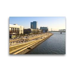 Premium Textil-Leinwand 45 x 30 cm Quer-Format Kölner Rheinboulevard | Wandbild, HD-Bild auf Keilrahmen, Fertigbild auf hochwertigem Vlies, Leinwanddruck von Elisabeth Schittenhelm