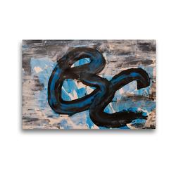 Premium Textil-Leinwand 45 x 30 cm Quer-Format Komposition aus blau und schwarz | Wandbild, HD-Bild auf Keilrahmen, Fertigbild auf hochwertigem Vlies, Leinwanddruck von N N