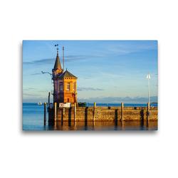 Premium Textil-Leinwand 45 x 30 cm Quer-Format Konstanz, meine Liebe | Wandbild, HD-Bild auf Keilrahmen, Fertigbild auf hochwertigem Vlies, Leinwanddruck von DannyTchi