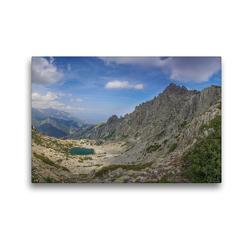 Premium Textil-Leinwand 45 x 30 cm Quer-Format Lac d'Oro – Der goldene See   Wandbild, HD-Bild auf Keilrahmen, Fertigbild auf hochwertigem Vlies, Leinwanddruck von Tom Czermak