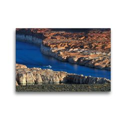 Premium Textil-Leinwand 45 x 30 cm Quer-Format Lakeshore Drive | Wandbild, HD-Bild auf Keilrahmen, Fertigbild auf hochwertigem Vlies, Leinwanddruck von Dieter-M. Wilczek