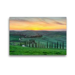 Premium Textil-Leinwand 45 x 30 cm Quer-Format Landgut Baccoleno in der Crete Senesi | Wandbild, HD-Bild auf Keilrahmen, Fertigbild auf hochwertigem Vlies, Leinwanddruck von Michael Valjak